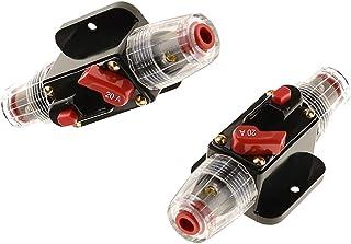 2 Pezzi Circuito Aperto Sistema Solare Circuit Breaker Portafusibili Corrente Eccessiva 20A 12V DC