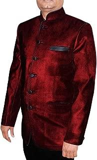 Mens Maroon 2 Pc Jodhpuri Suit 6 Button JO409