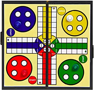 MARGOUN Ludo Board Game for Kids and Adults , Folding Travel Board Game