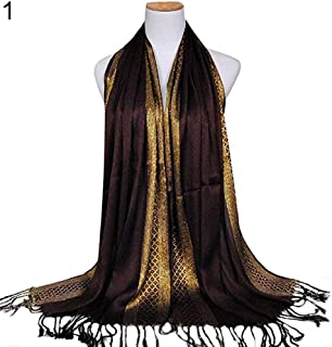 d8a4a22888 Fashion Women Muslim Long Soft Cotton Shawl Luxury Scarf Tassel Stole Wrap  liyhh