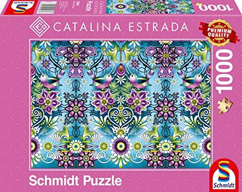 Schmidt Spiele Puzzle 59587 Catalina Estrada, Blauer Sperling, 1000 Teile