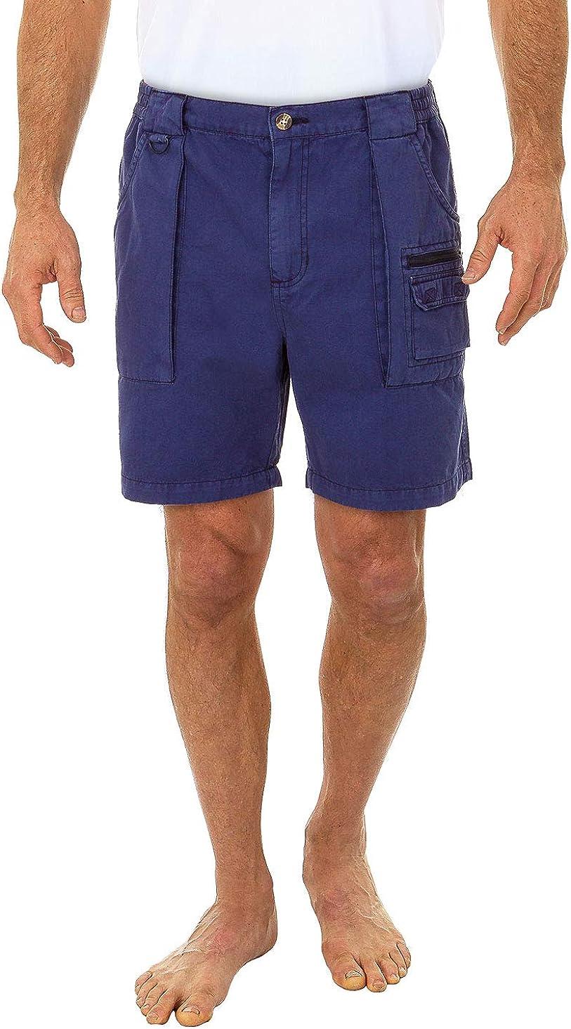 Beach Outfitters Men's Walking Hiker 100% Cotton Cargo Short, 6.5