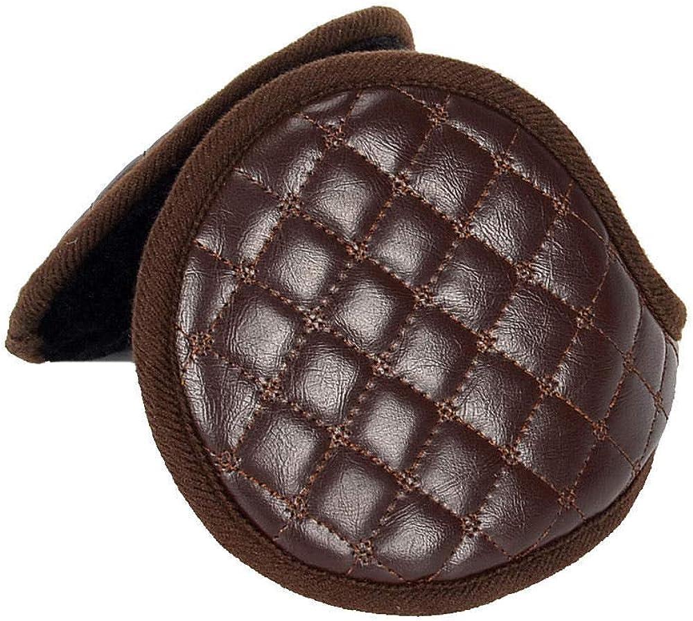 Folding earmuffs warm winter plush leather cover thickened ear ear warm warm earmuffs