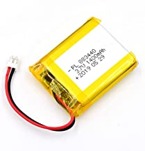 AKZYTUE 3.7V 1400mAh 883440 Lipo Battery Rechargeable Lithium Polymer ion Battery Pack with JST Connector