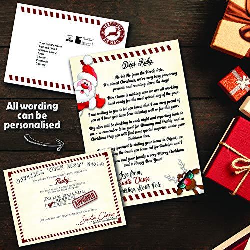 Pretty Little Creations Personalizzabile Lettera di Babbo Natale | Nice Certificato | Babbo Natale | Busta