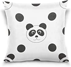"MASSIKOA Panda Black Dots Decorative Throw Pillow Case Square Cushion Cover 18"" x 18"" for Couch, Bed, Sofa or Patio - Only..."