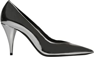 SAINT LAURENT Luxury Fashion Womens 579319AAL008105 Silver Pumps | Fall Winter 19