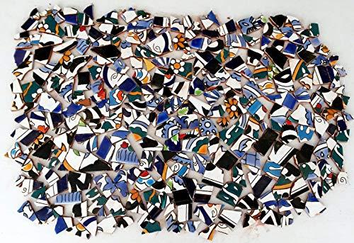 2kg Bruchfliesen, Mosaikfliesen, handbemalte Mosaik Stücke, glasierte Steine, Bruchmosaik,...