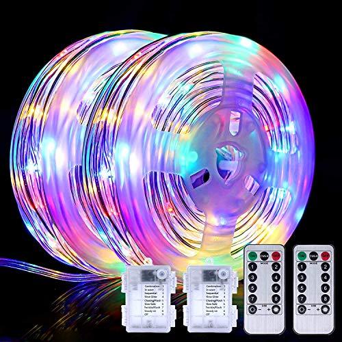 OUPPENG Luces de la cuerda 150led Lámpara de jardín de Navidad 49FT Luces de cadena de hadas 8 Modos de iluminación Inicio Fiesta de boda Hogar al aire libre Decoración de vacaciones