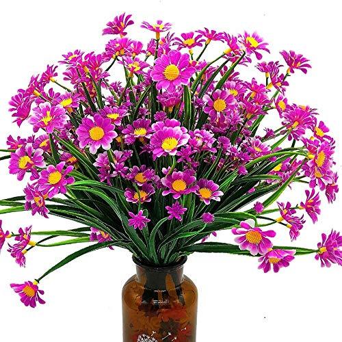 yueyue947 / Flores Artificiales de Margarita (Paquete de 4) púrpura