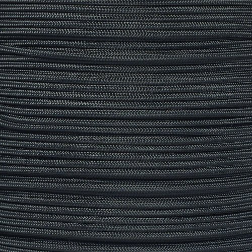 PARACORD PLANET Tactical 5-Strand Nylon Core 275-LB Tensile Strength Paracord Rope 3/32 Inch (2.38mm Diameter) (Black, 100 Feet)