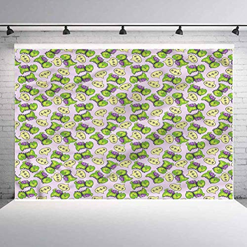 6x6FT Vinyl Photo Backdrops,Boys Room,Green Dinosaurs Kids Photo Background for Photo Booth Studio Props
