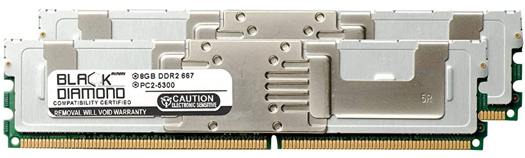 廊下俳句バイアス16GB 2X8GB Memory RAM for Dell PowerEdge M600 240pin PC2-5300 667MHz DDR2 FBDIMM Black Diamond Memory Module Upgrade
