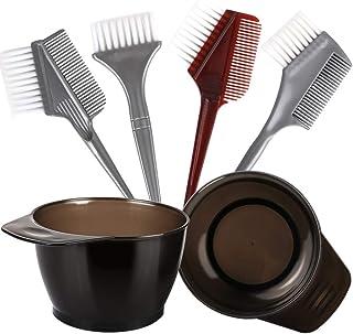 Hair Color Brush and Bowl Set, YGDZ Professional Salon Hair Coloring Dyeing Kit, Hair Dye Brush and Bowl Set, 4pcs Dye Brush & Comb, 2pcs Hair Tinting Bowl