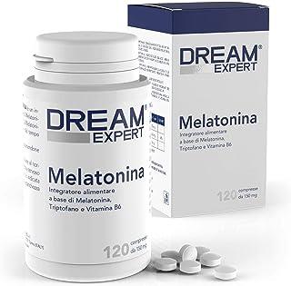 Melatonina per dormire 120 Compresse Dulàc Dream Expert, Pastiglie per dormire con Melatonina 1 mg, Triptofano e Vitamina ...