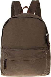 D DOLITY Sturdy Plain Canvas Backpack Students Booksbag School Bags for Unisex Teens