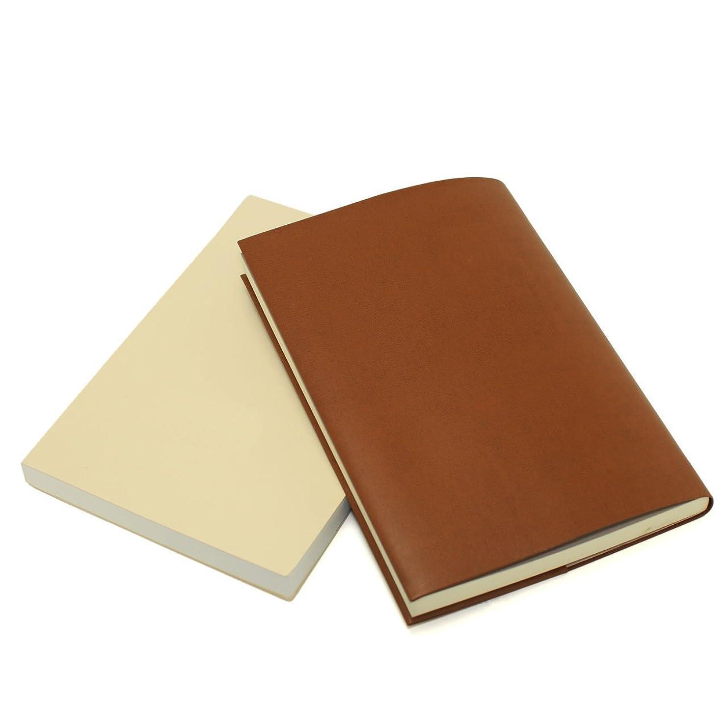 反響するパイル太字お手入れいらずのほぼ日手帳カズン対応 A5サイズ リサイクルレザー カバー (キャメル)