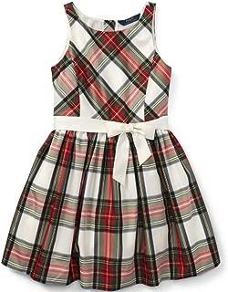 Ralph Lauren Polo Girls Taffeta Plaid Fit & Flare Sleeveless Party Dress