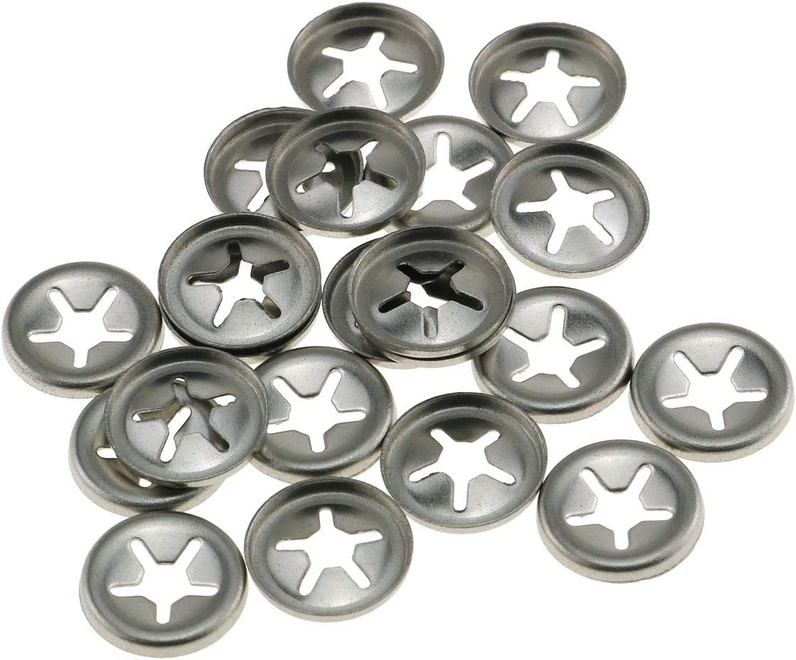 E-outstanding 20-Pack 304 Stainless We OFFer at cheap Special Campaign prices Steel Bearing Clamp Starlock
