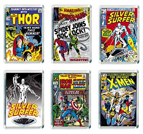 Juego de 6 imanes para nevera Marvel Super Hero 003
