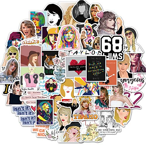 Singer Taylor Stickers Pack of 50 Stickers for Laptops, Funny Merchandise Laptop Stickers for Laptops, Computers, Hydro Flasks, Skateboard and Travel Case