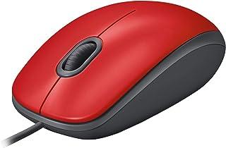 لوجيتك M110 ماوس يو اس بي، أزرار صامتة، تصميم مريح لكامل الحجم، يمكن استخدامه بكلتا اليدين لاجهزة الكمبيوتر / ماك / لابتوب...