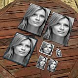 MISCHA BARTON - Original Art Gift Set #js003 (Includes - A4 Canvas - A4 Print - Coaster - Fridge Magnet - Keyring - Mouse Mat - Sketch Card)