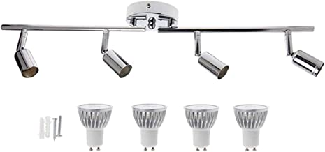 gazechimp Luz de Trilho LED 12W, Iluminação de Teto 4 em 1, Cabeça de Luz Giratória, para Iluminação de Realce, Iluminação...