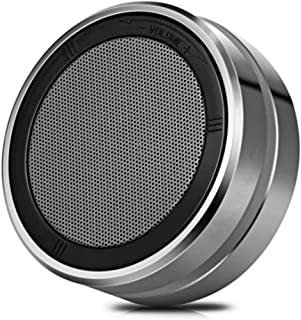 KJRJL Portable Bluetooth Speaker with Stunning Stereo Sound Rotary Volume Control Technology Support Hands-Free Calls,Metal Subwoofer Outdoor Mini 4.1 Bluetooth Small Speakers (Color : Gray)