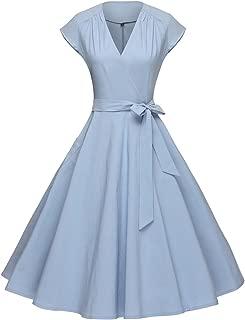 blue vintage prom dress