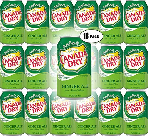 Canada Dry Ginger Ale, 7.5oz Mini Can (Pack of 18, Total of 135 Oz)