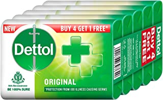 Dettol Bathing Soap Original, 125gm, Pack of 5