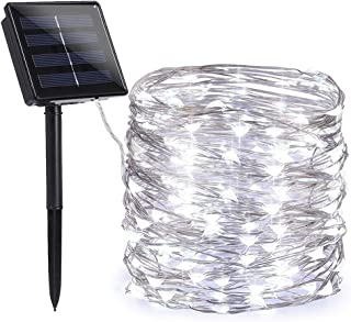 Toodour Solar Christmas Lights, 72ft 200 LED 8 Modes Solar String Lights, Waterproof Solar Powered Fairy Lights, Copper Wire Fairy Lights for Garden, Party, Christmas Decorations (Pure White)