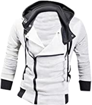 jeansian Men's Zipper Hoodie Casual Coat Slim Fit Jacket 8945