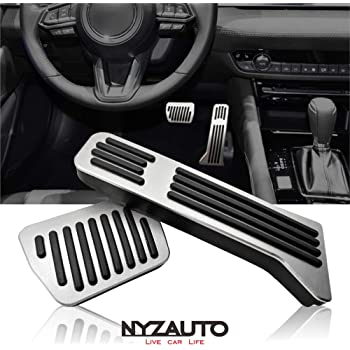 Non Slip Aluminum Gas Pedal Brake Pedal Pad Compatible with MAZDA3 Automatic Transmission, 2 Sets TTCR-II No Drill Pedal Covers for Mazda MAZDA3 2019-2020 /¡/­