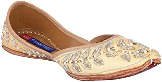 MSC Leather Ethnic Beige Flat Bellie for Women
