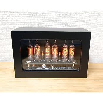 4950円OFF Mat Black IN-16 nixie tube clock ニキシー管時計 新築祝いに ギフトに プレゼントに