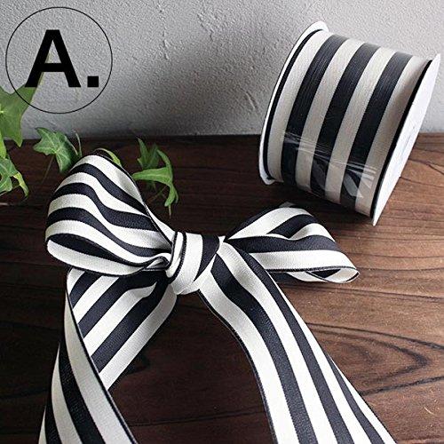 【A】6.3センチ幅 1メートル切り売り グログラン ストライプリボン バレンタイン ギフト用ラッピング リボン クリスマス