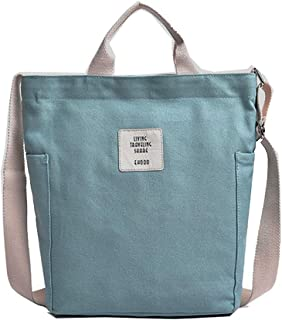 KIWITECH Tasche Canvas Damen Rosa Umhängetaschen groß Handtasche Damen Schultertasche Crossbody Bag Shopper für Schule Sho...