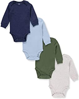 Carter's Baby Boys 4-Pack Long-Sleeve Original Bodysuits Solids (3 Months)