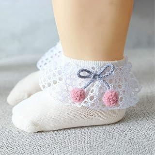 YUYUO, Calcetines De Bebé Flores De Encaje Lindas Calcetines De Bebé Recién Nacidos Calcetines De Algodón Princesa Niñas