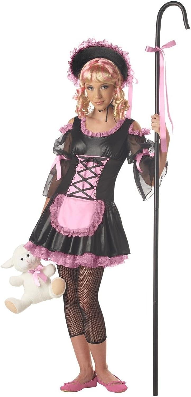 California Costumes Little Bo Peep Tween XL 12-14 NIP Costume, Black Pink