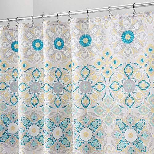 mDesign Decorative Medallion Print, Easy Care Fabric Shower...