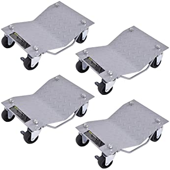Auto Repair Snowmobile Moving Dollies Set for Vehicle Car Auto Repair 1500lbs Capacity 3Pcs Tire Car Dolly Car Wheel Dolly