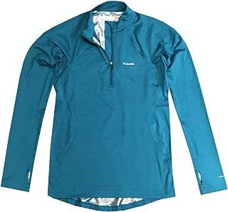 Womens Omni-Heat Midweight Baselayer Half-Zip Long Sleeve Shirt Blouse