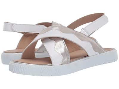 Elephantito Aline Crossed Sandal (Toddler/Little Kid/Big Kid) (White) Girls Shoes