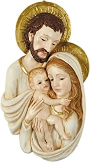 Holy Family Resin Christmas Wall Plaque Sculpture, 7 1/2 Inches