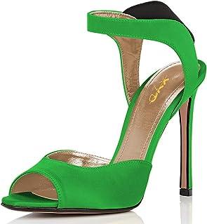 e0bf32400802b7 XYD Women Sexy Peep Toe Stiletto High Heel Sandals Slingback Elastic Slip  On Cutout Party Dress