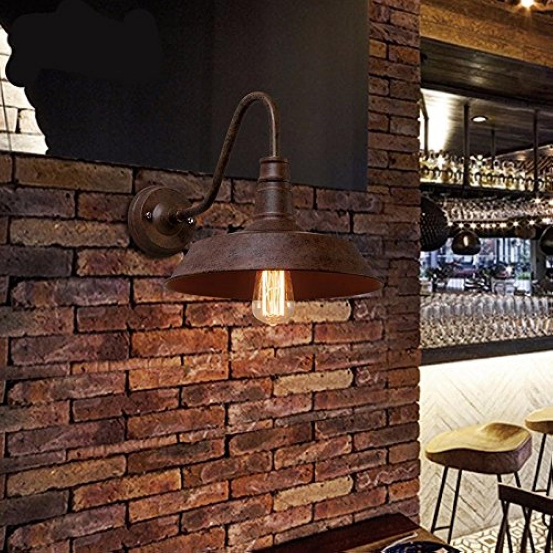 Modern LED Wandleuchte Wandleuchte Café Bar Wandleuchte Schmiedeeisen Lager Treppenhaus Gang Wandleuchte Coffee Shop.Vintage Retro Café Loft Bar Flurlampe, Wandlampe Upaus Aluminium für Flur.