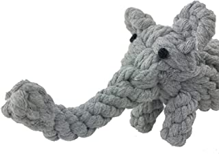 Pet Puppy Dog Cotton Rope Chew Toys for Teeth Cleaning, Elephant Design by Aduck